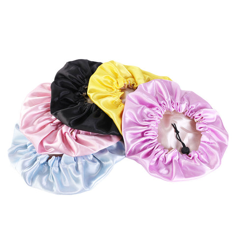 Kids 100% Satin Bonnet Adjustable Sleeping Bonnet