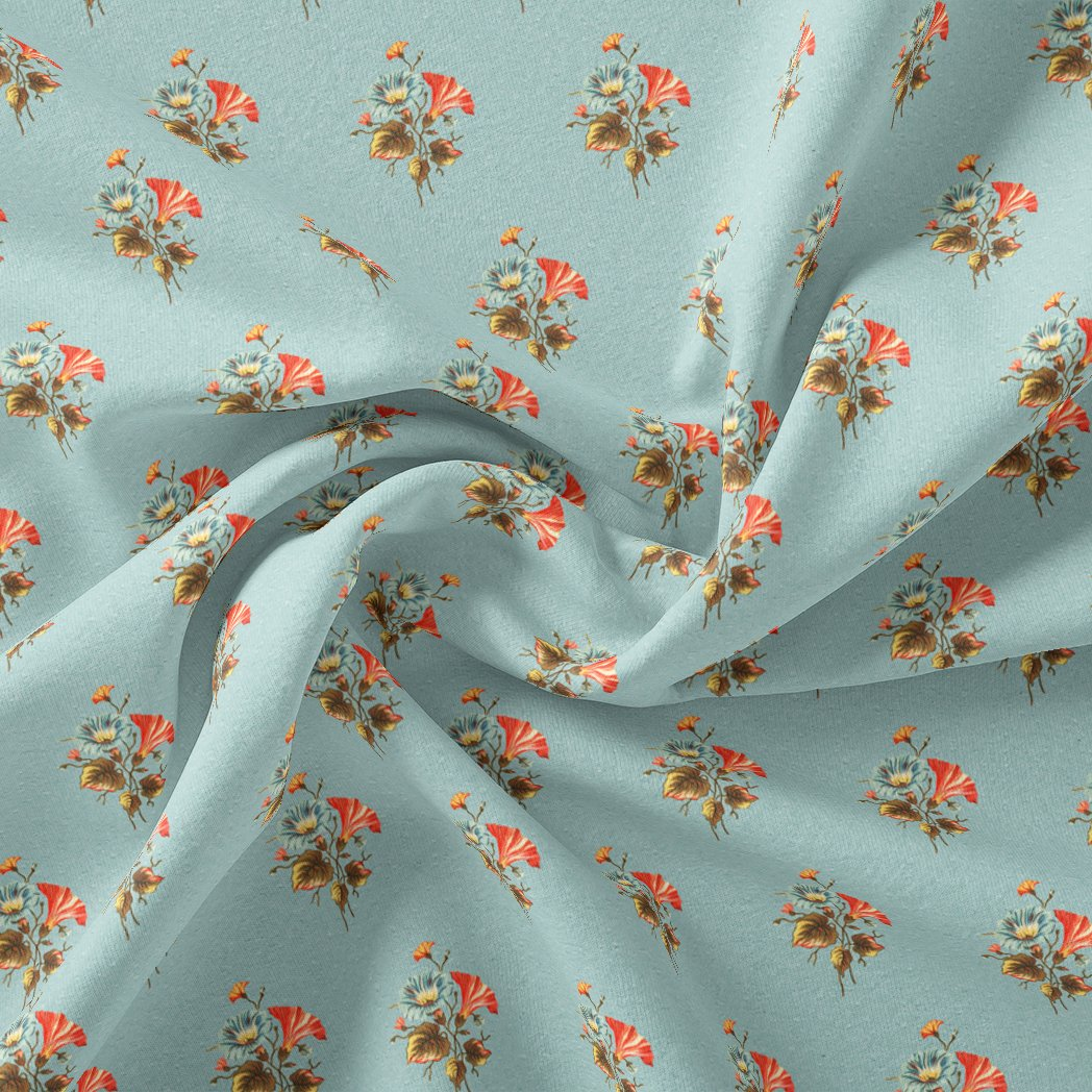 Vintage Flower Repeat Digital Printed Fabric - Pure Georgette - FAB VOGUE Studio