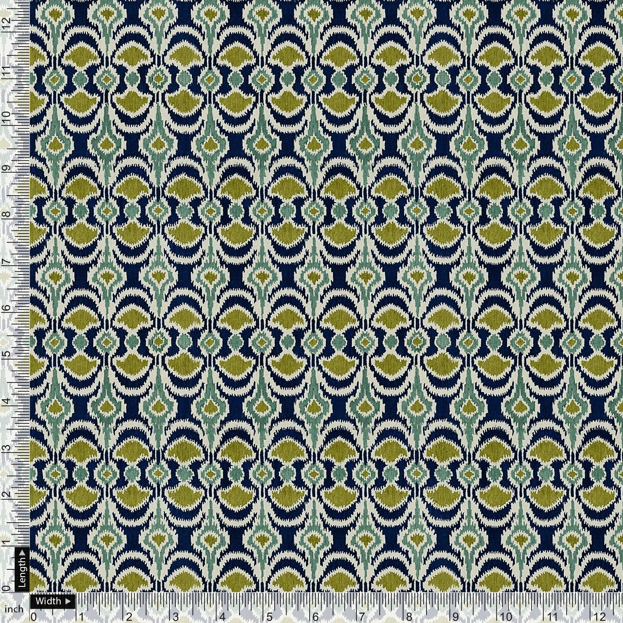 Bead and Reel Pattern Digital Printed Fabric - FAB VOGUE Studio. Shop Fabric @ www.fabvoguestudio.com