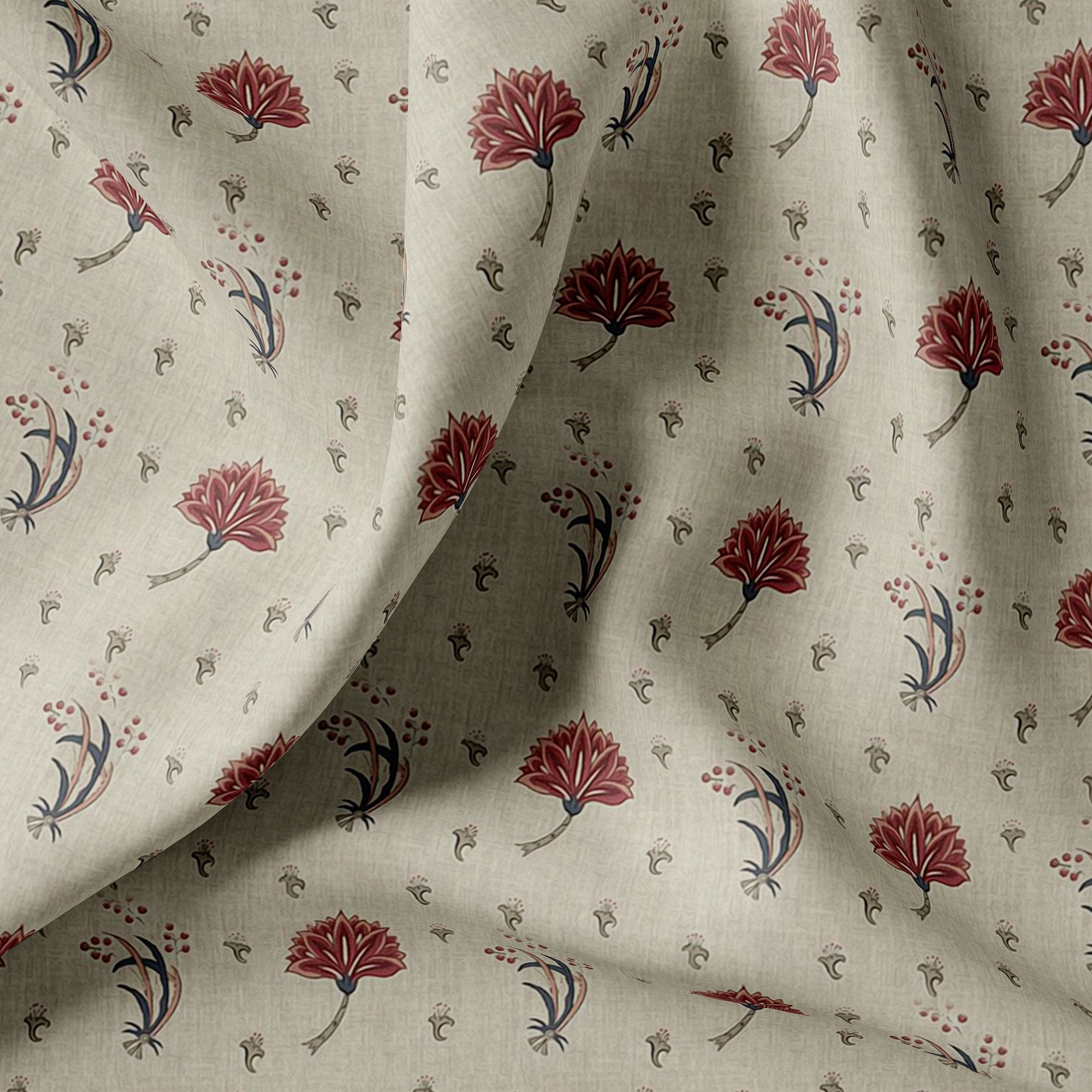 Fleur De Lis Design Digital Printed Fabric - FAB VOGUE Studio. Shop Fabric @ www.fabvoguestudio.com