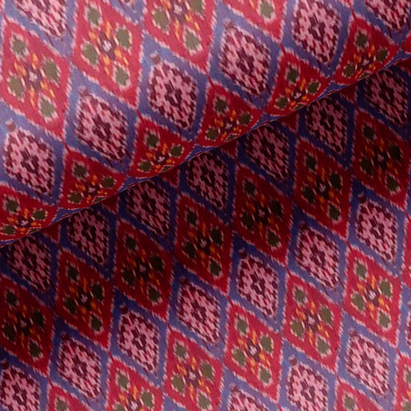 Maroon Bandhani Type Pattern Design Printed Fabric