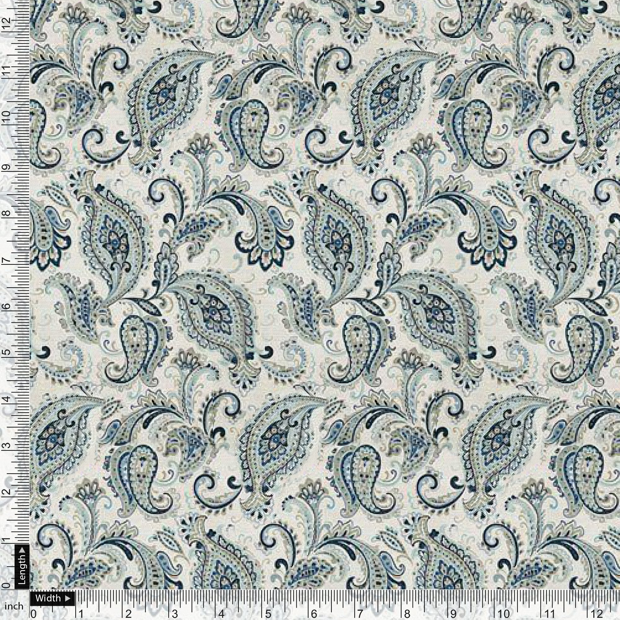 Paisley Seamless Design Digital Printed Fabric - FAB VOGUE Studio. Shop Fabric @ www.fabvoguestudio.com