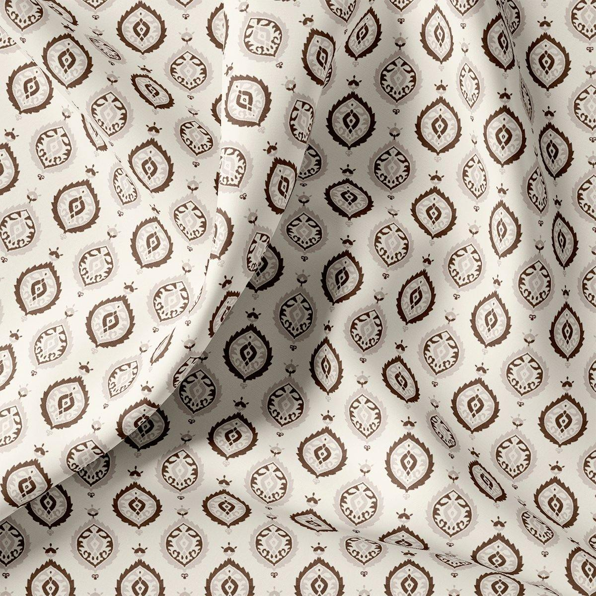 Small Abstract Motif Digital Printed Fabric - FAB VOGUE Studio. Shop Fabric @ www.fabvoguestudio.com