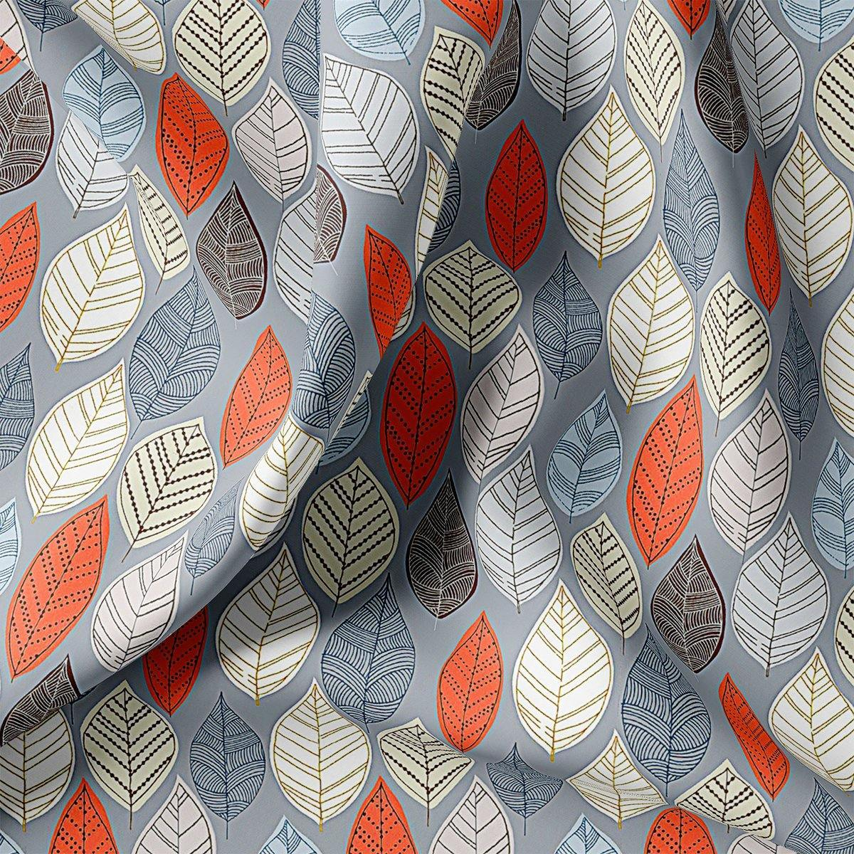 Autumn Leaves Digital Printed Fabric - FAB VOGUE Studio. Shop Fabric @ www.fabvoguestudio.com