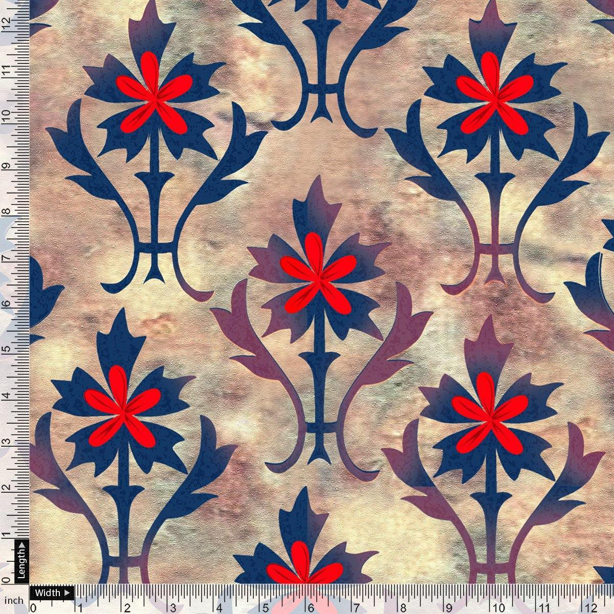 Maple Leaf Digital Printed Fabric - FAB VOGUE Studio. Shop Fabric @ www.fabvoguestudio.com