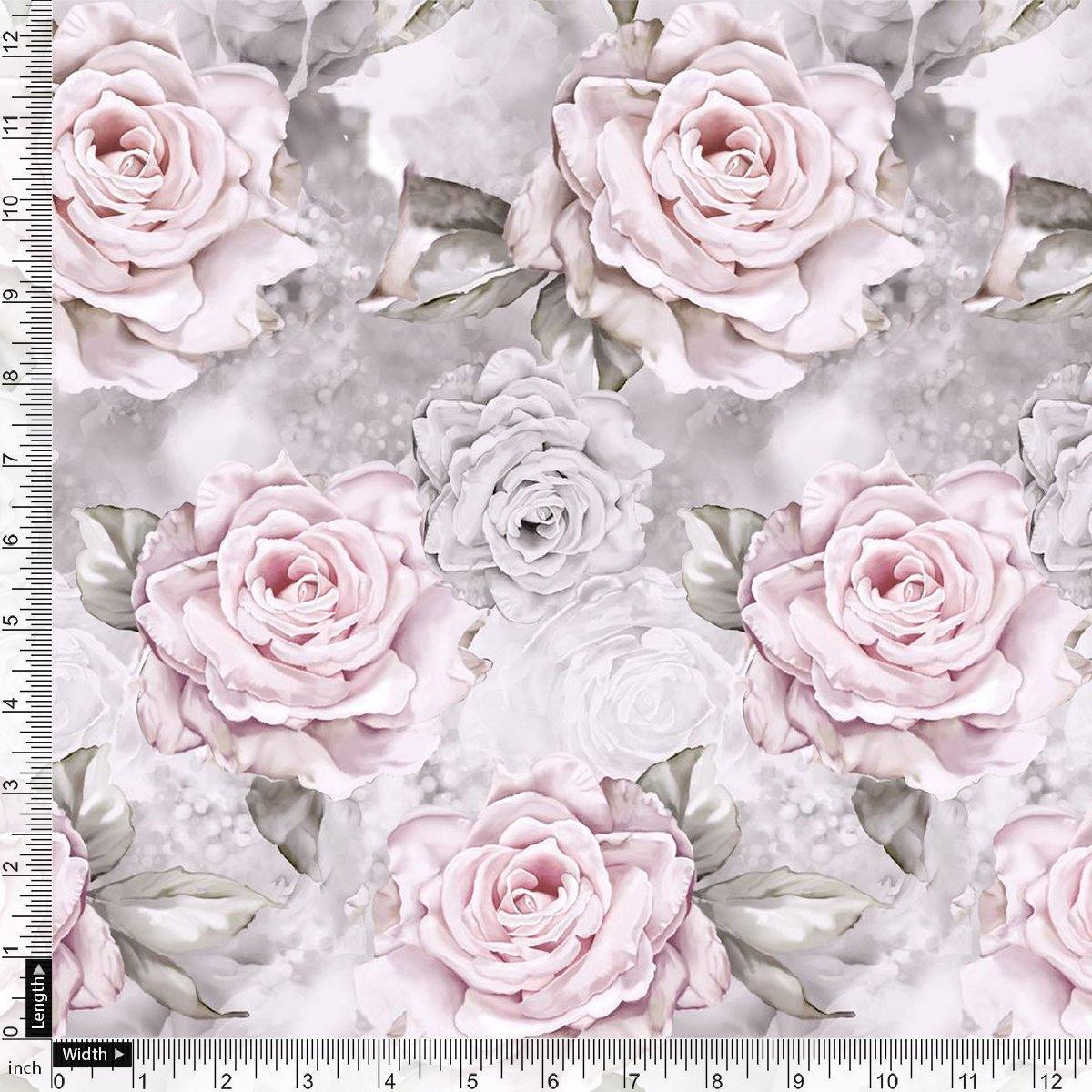 Rosegold Flower Digital Printed Fabric - FAB VOGUE Studio. Shop Fabric @ www.fabvoguestudio.com
