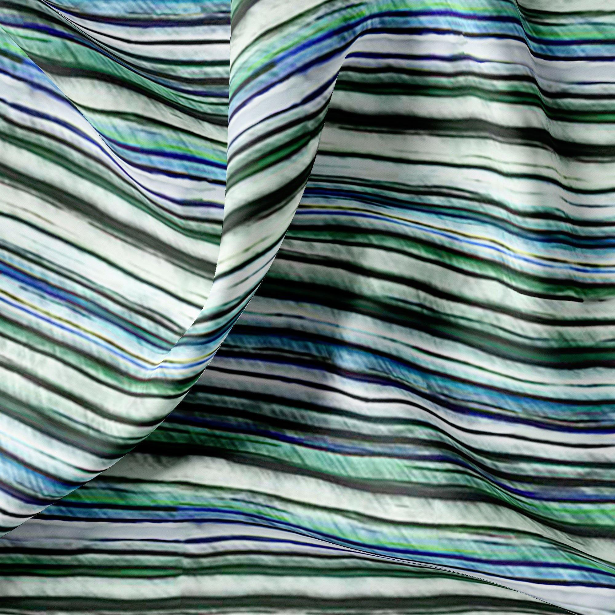Random Stripes Pattern Digital Printed Fabric - FAB VOGUE Studio. Shop Fabric @ www.fabvoguestudio.com