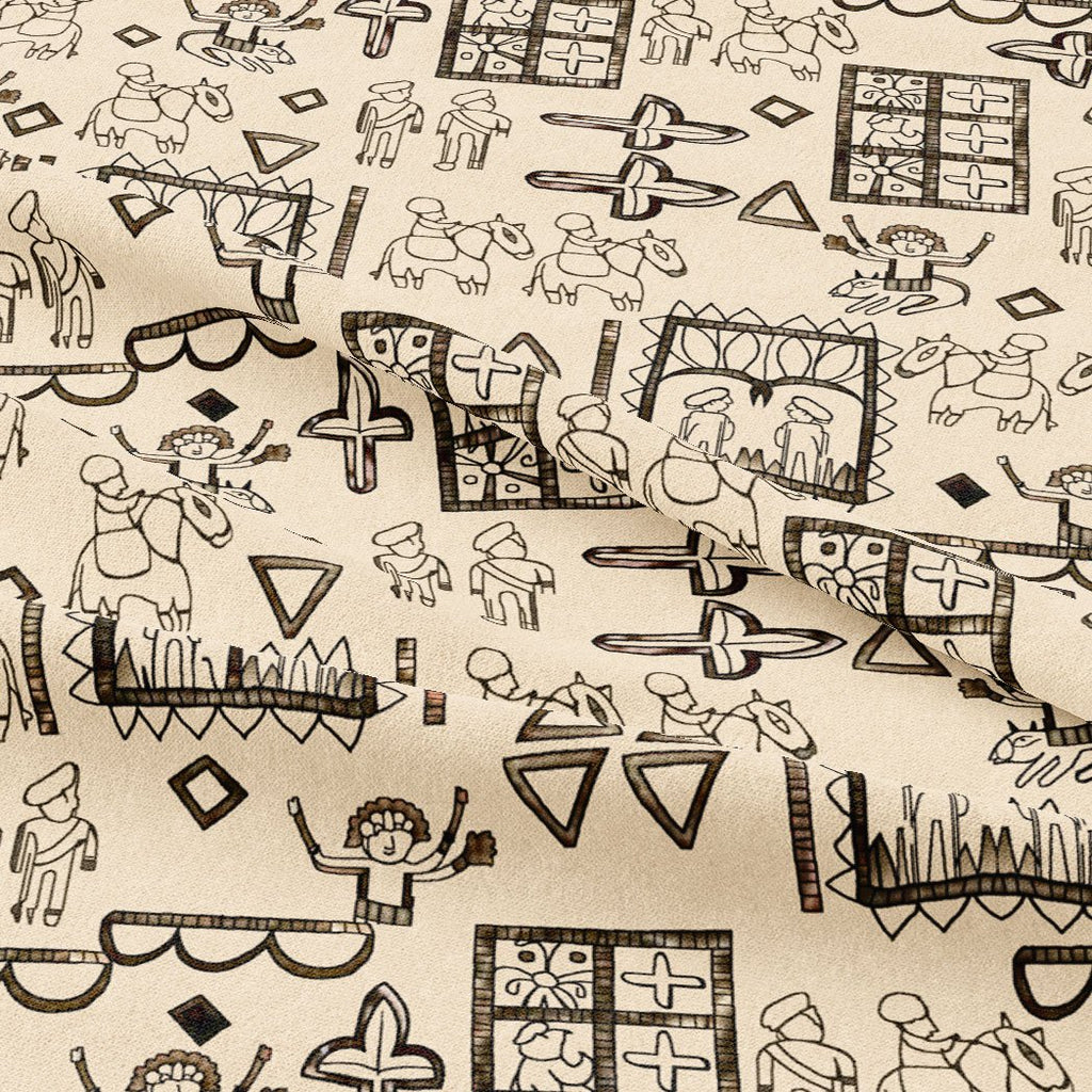 Beautiful Quirky Printed Fabric - FAB VOGUE Studio