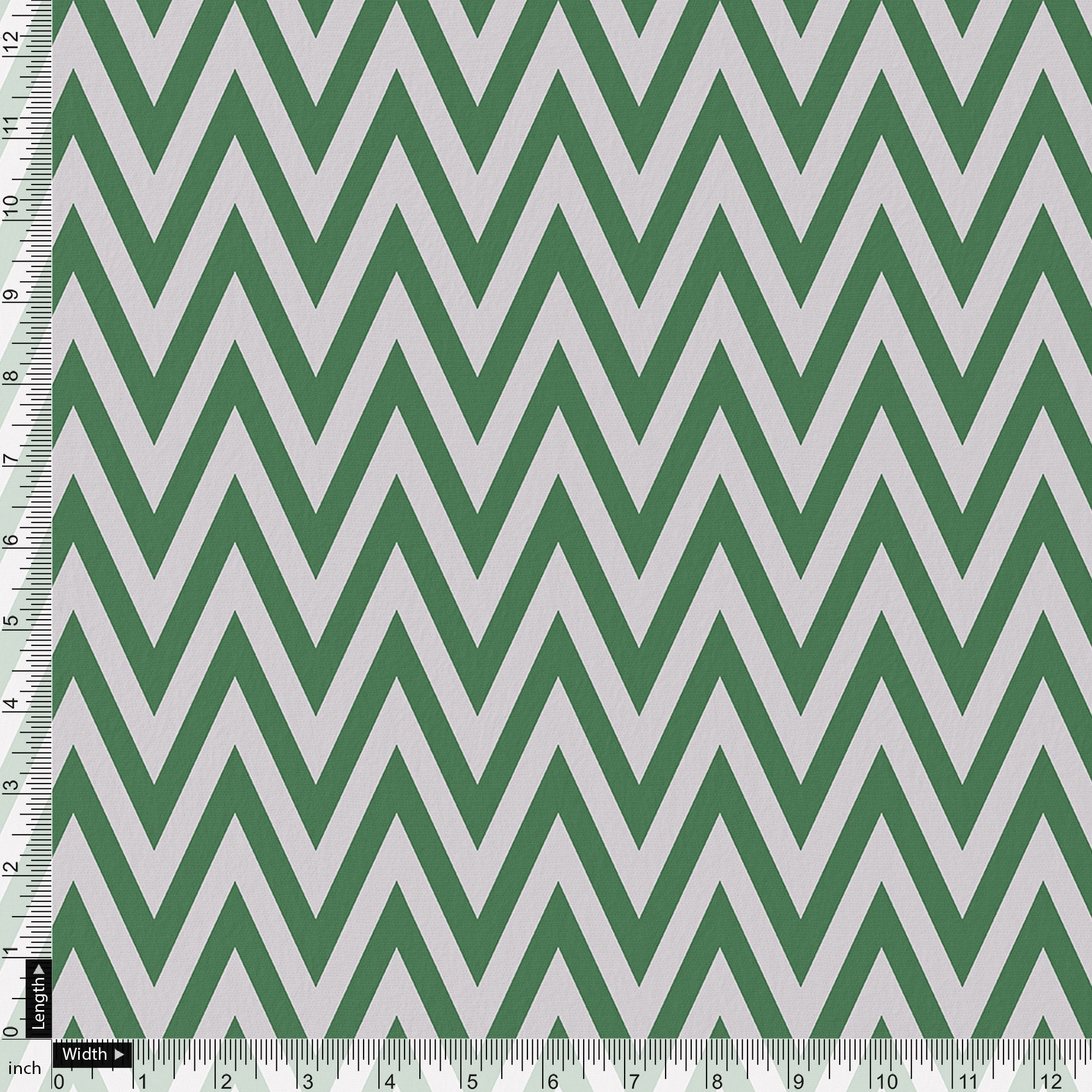 Green Chevron Pattern Digital Printed Fabric - FAB VOGUE Studio. Shop Fabric @ www.fabvoguestudio.com