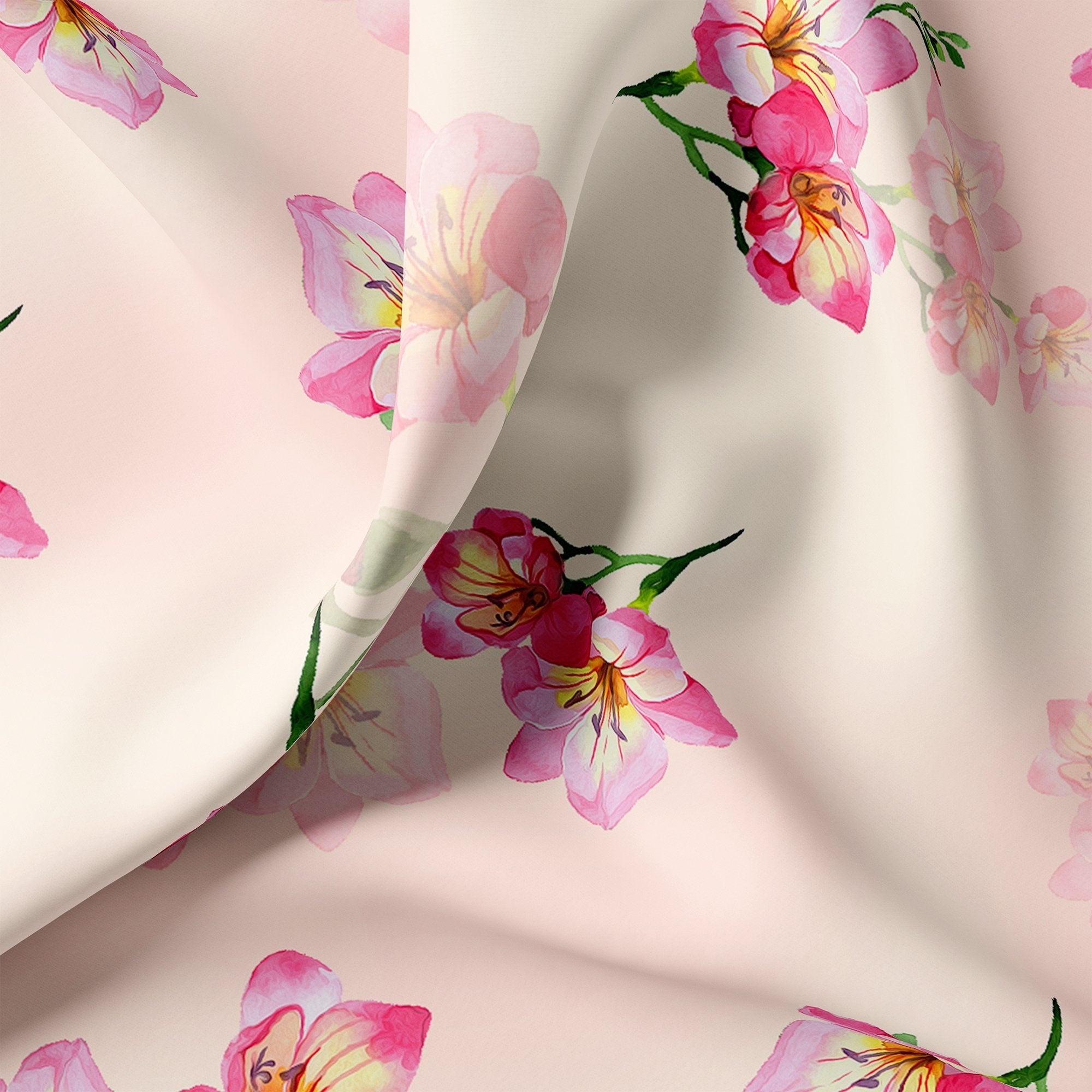 Colorfull Floral Digital Printed Fabric - FAB VOGUE Studio. Shop Fabric @ www.fabvoguestudio.com
