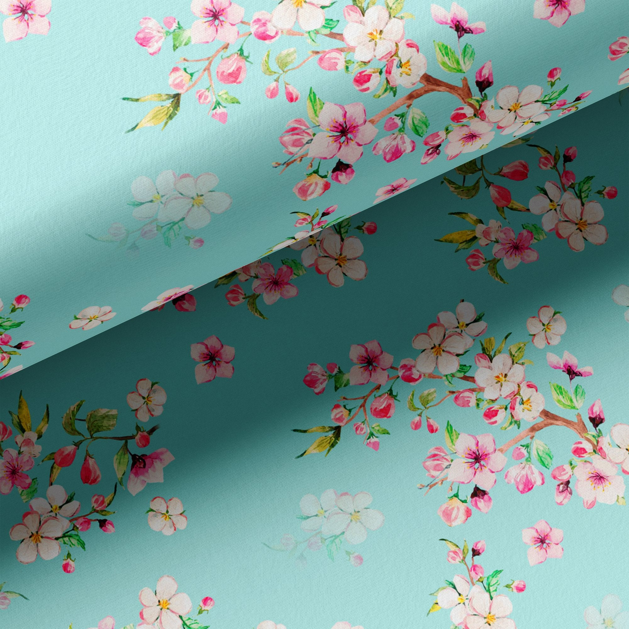 Beautiful Rama Floral Vine Digital Printed Fabric - FAB VOGUE Studio. Shop Fabric @ www.fabvoguestudio.com