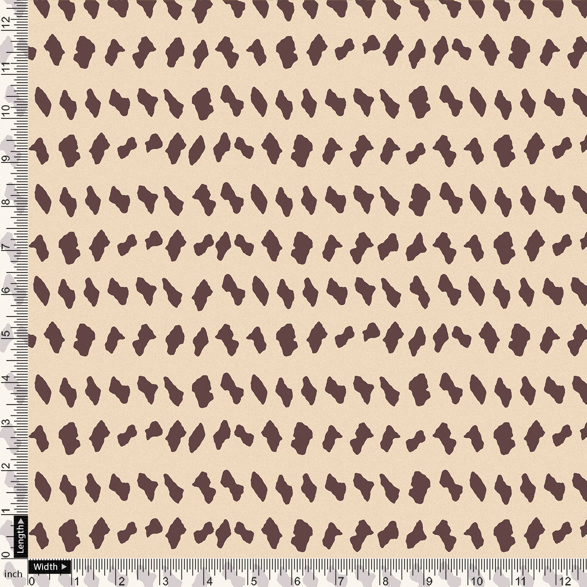 Brown Stones Digital Printed Fabric - Kora Silk
