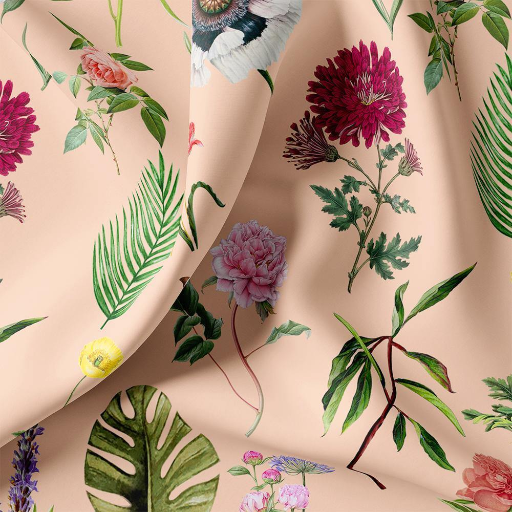 Tropical Flowers Digital Printed Fabric - FAB VOGUE Studio. Shop Fabric @ www.fabvoguestudio.com