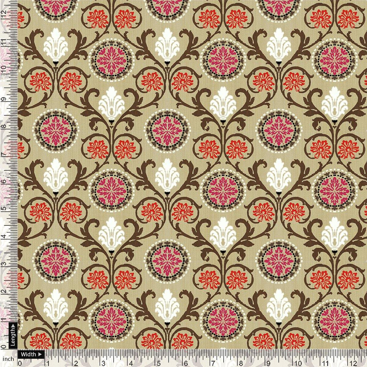 Decorative Damask Digital Printed Fabric - FAB VOGUE Studio. Shop Fabric @ www.fabvoguestudio.com