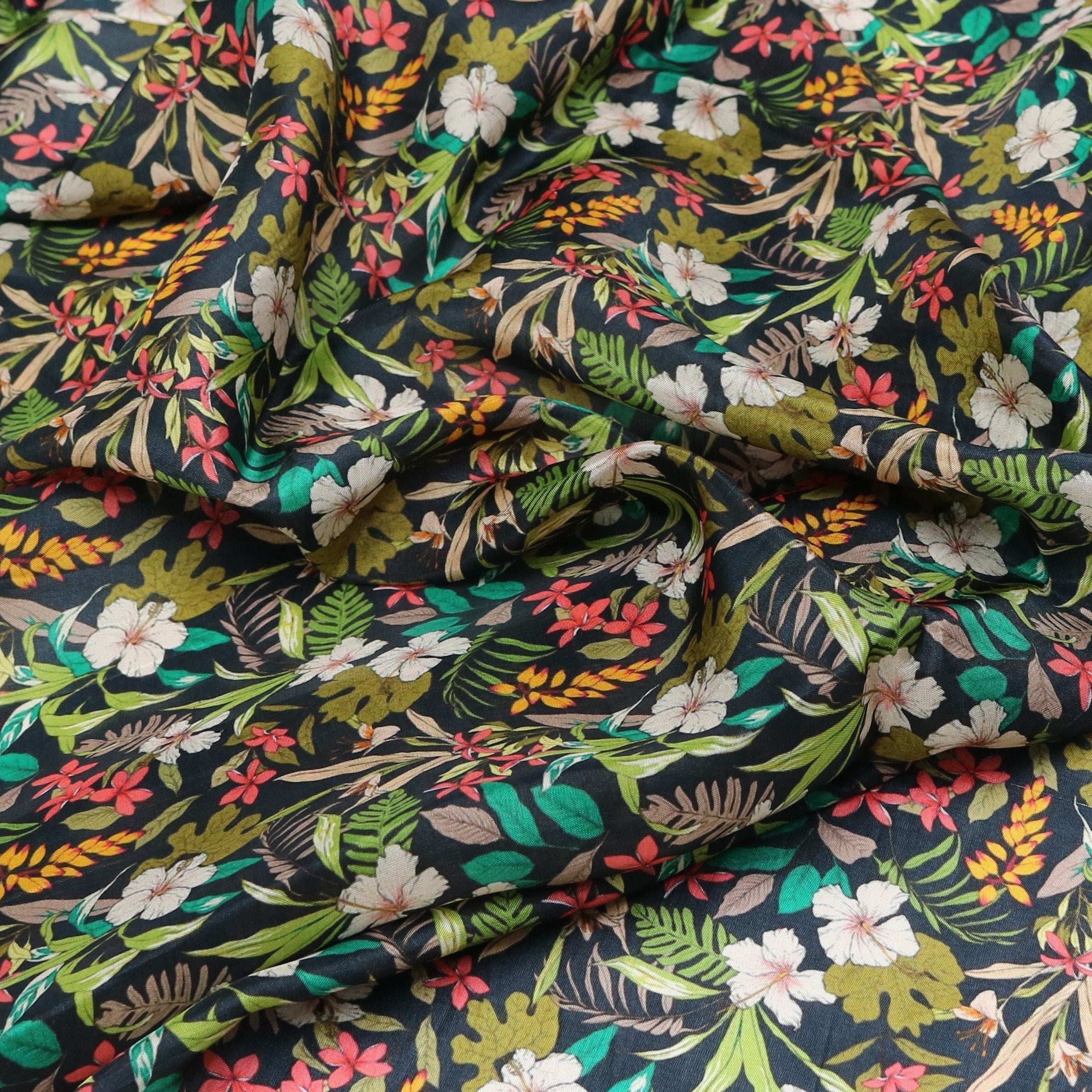 Frangipani Flower Digital Printed Fabrics - FAB VOGUE Studio