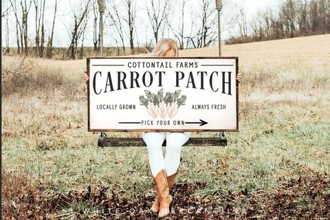 Cottontail Farms Carrot Patch Sign