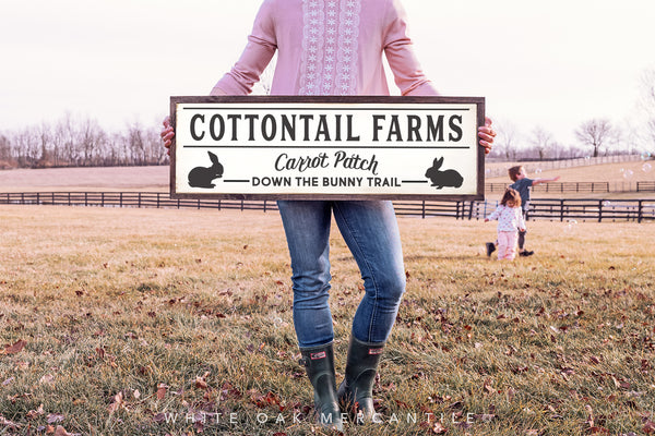 Cottontail Farms Bunny Trail Sign