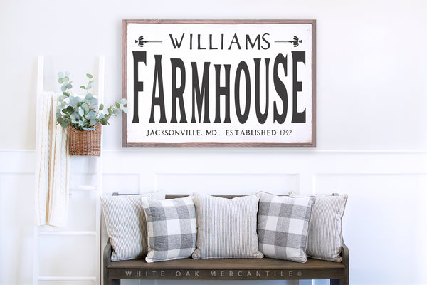 Farmhouse Sign - Personalized