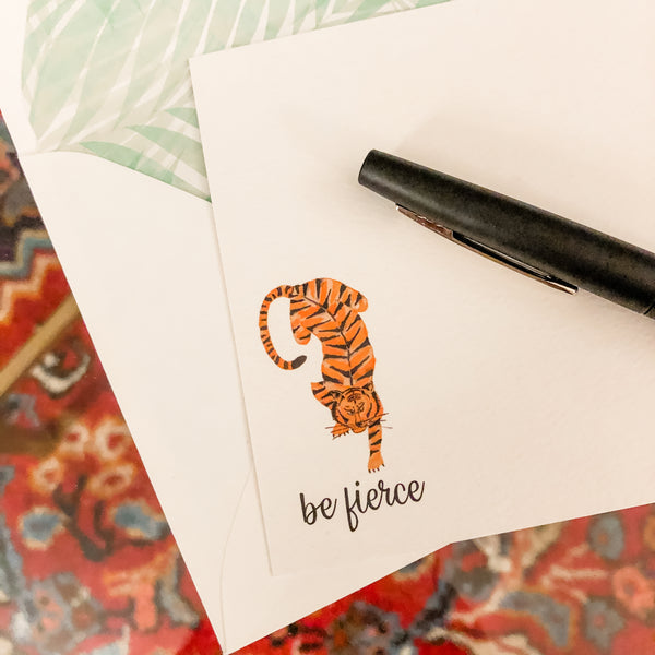 Be Fierce Tiger Notecard [Set of 10]