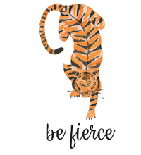 Load image into Gallery viewer, Be Fierce Tiger Notecard [Set of 10]