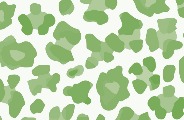 Green Leopard Paper Placemat