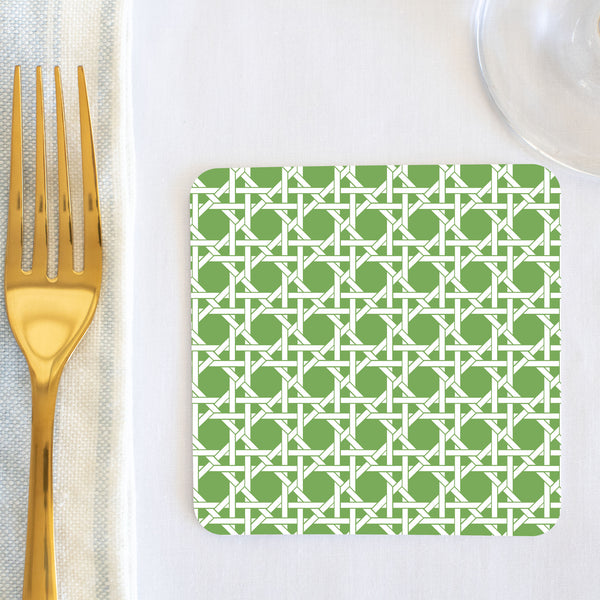 Apple Green Cane Coaster (set of 24) in Gift Box