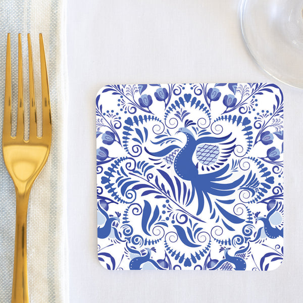 Delft Bird Coaster (set of 24) in Gift Box