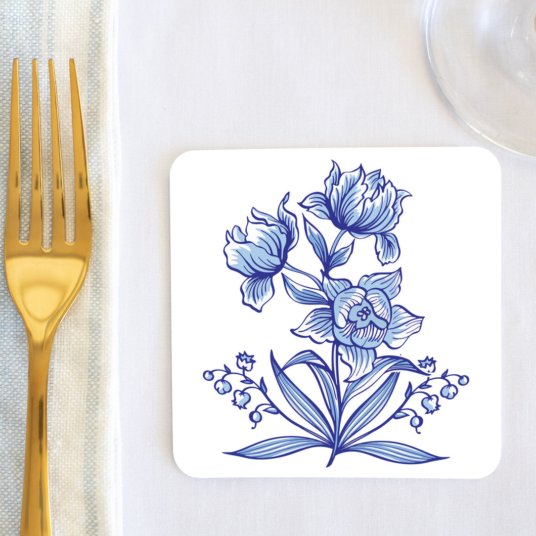 Delft Daffodil Coaster (set of 24) in Gift Box