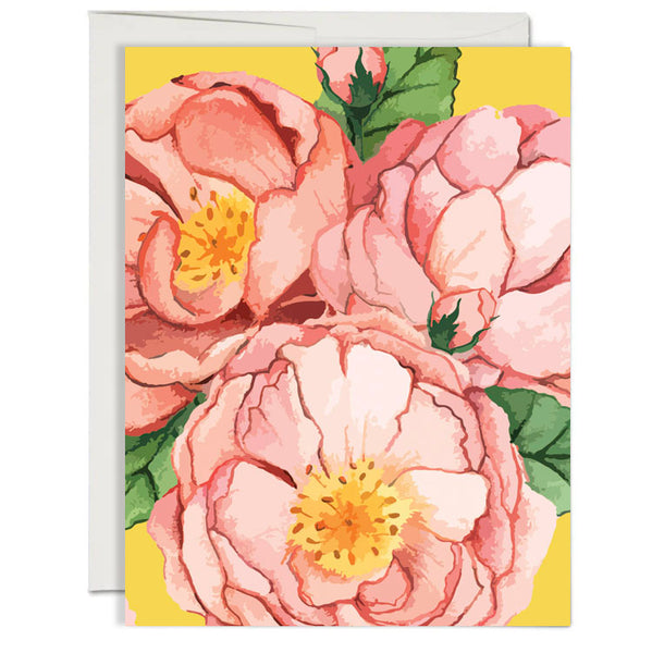 Desert Rose Folded Notecard