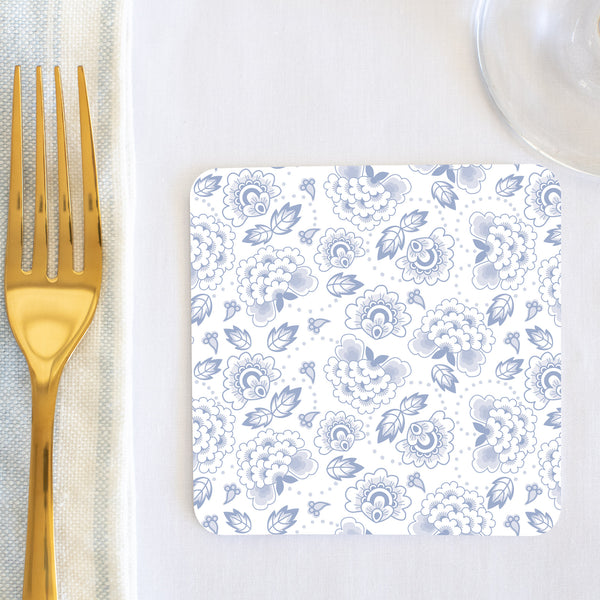 Floral Delft Coaster (set of 24) in Gift Box