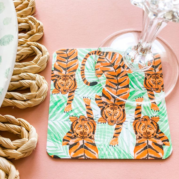Tiger Pack Coaster (set of 24) in Gift Box