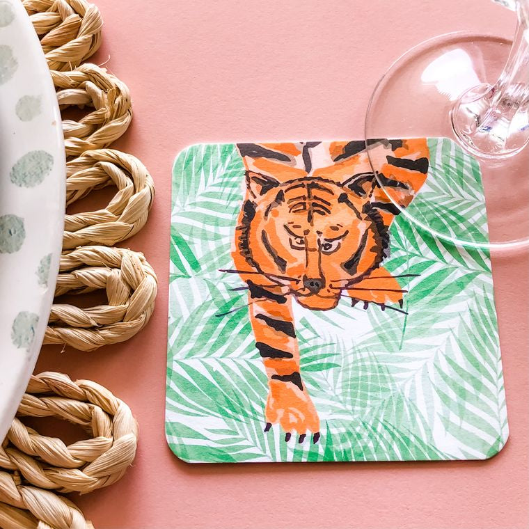 Fierce Tiger Coaster (set of 24) in Gift Box