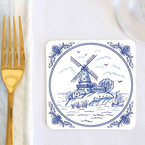 Delft Windmill Coaster (set of 24) in Gift Box