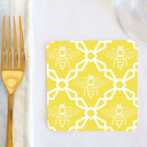 Melissa Yellow Bee Coaster (set of 24) in Gift Box