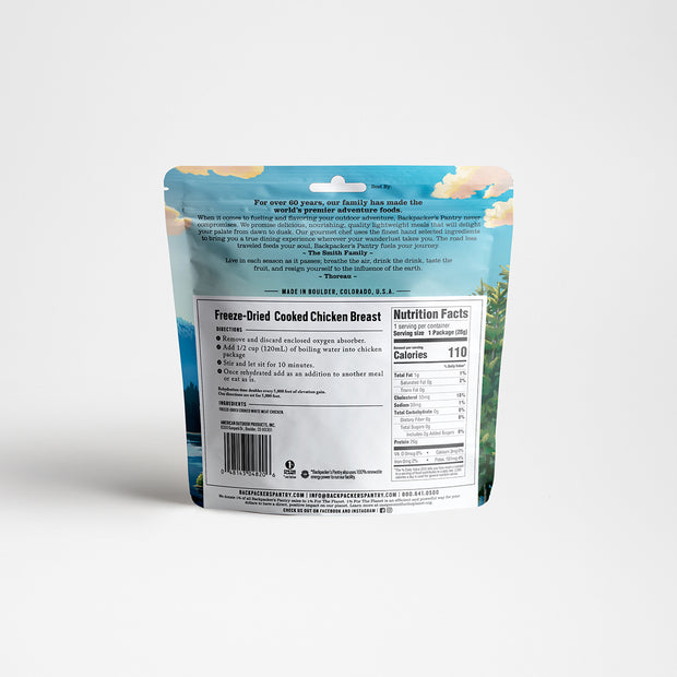 Freeze-Dried Cooked Chicken Back