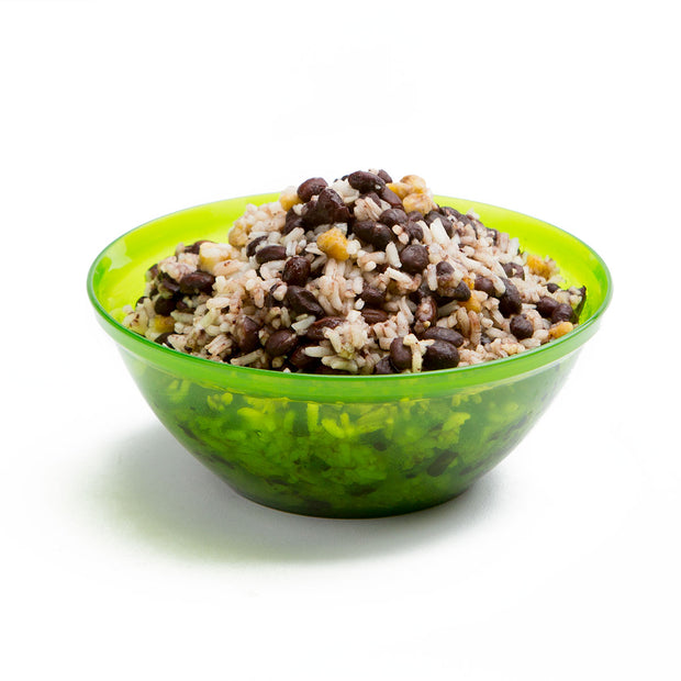 Cuban Coconut Rice & Black Beans Prepared
