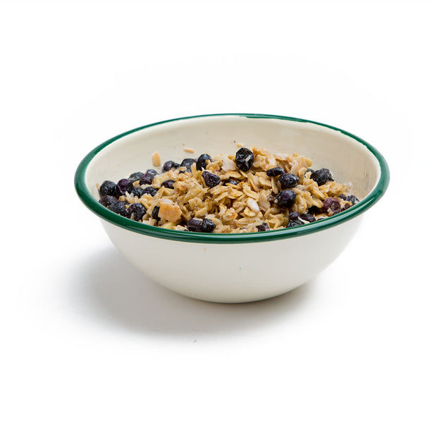 Granola with Blueberries, Almonds & Milk Prepared