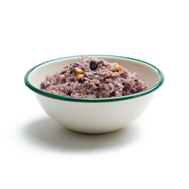 Organic Blueberry Walnut Oatmeal with Quinoa Prepared