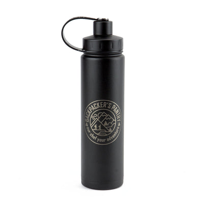 24oz EcoVessel Insulated Water Bottle (Black)