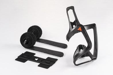 Granite Design Carbon AUX Bottle Cage With Strap Kit Side Loading Black