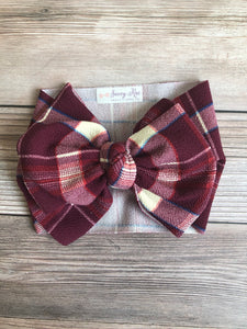 Maroon Plaid Camdyn