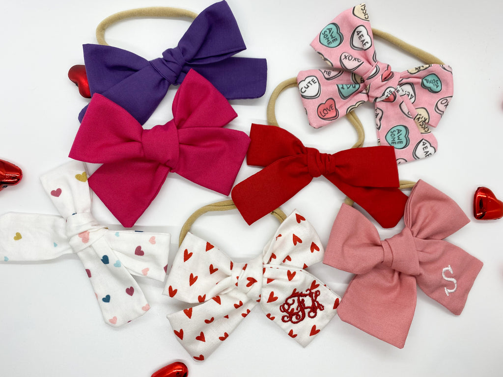 Monogrammed Kate Bows