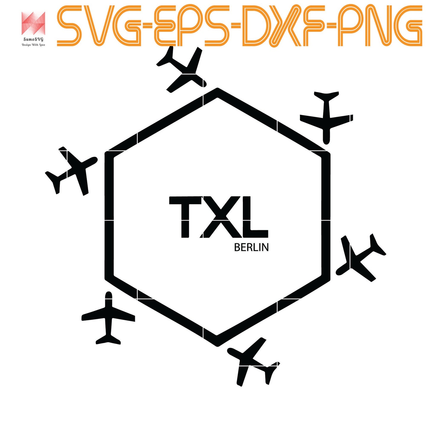Berlin Airport Tegel TXL, Quotes, Funny Quotes, Cameo, Cricut, Silhouette, SVG, PNG, Eps, DXF, Digital Download