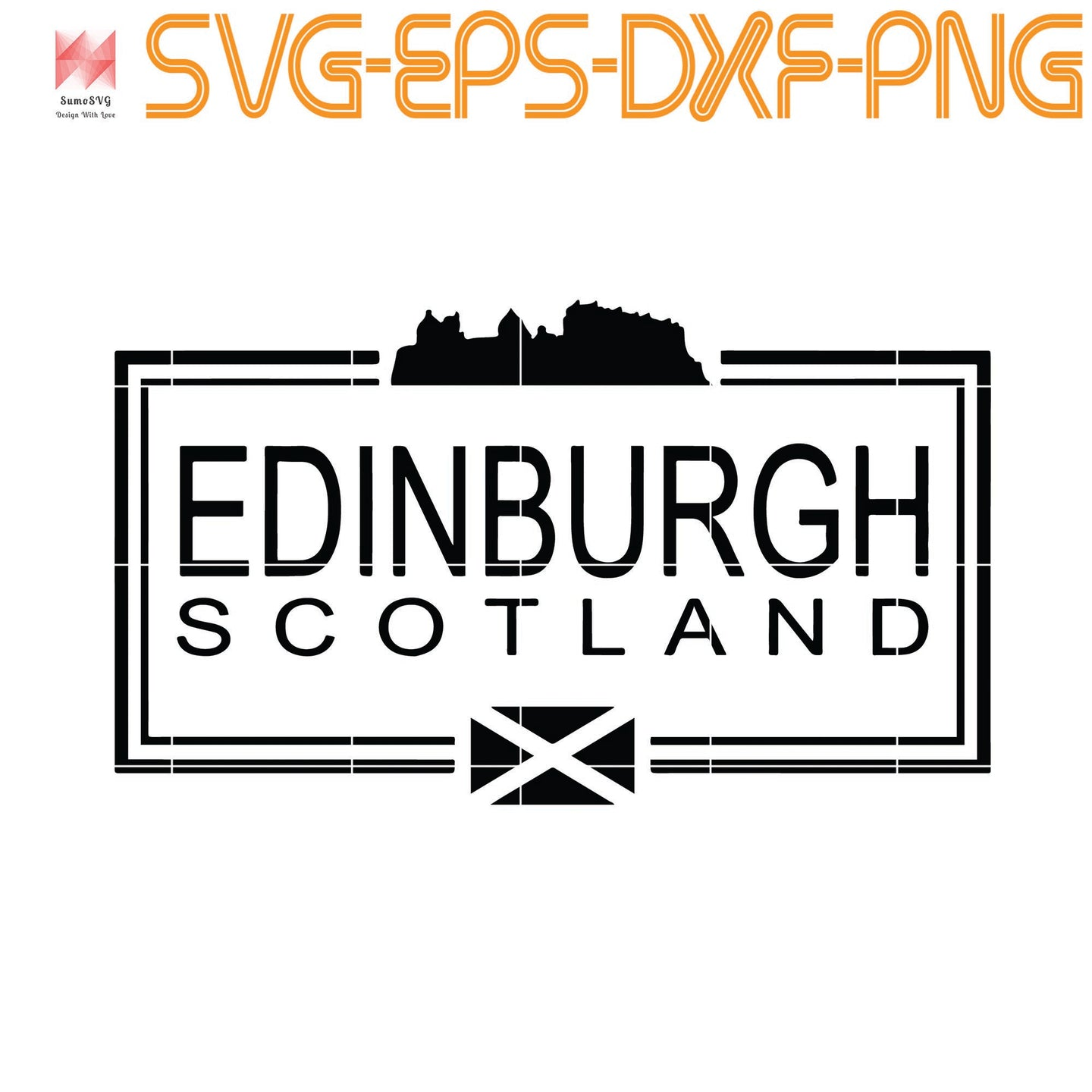 Edinburgh Scotland, Quotes, Funny Quotes, Cameo, Cricut, Silhouette, SVG, PNG, Eps, DXF, Digital Download
