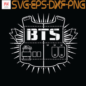 Official BTS BTS18 Kpop Bangtan Boys Merchandise, Quotes, Funny Quotes, Cameo, Cricut, Silhouette, SVG, PNG, Eps, DXF, Digital Download