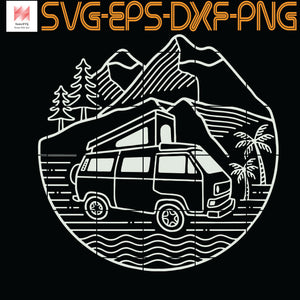 Surfer Bus Camper Motorhome, Quotes, Funny Quotes, Cameo, Cricut, Silhouette, SVG, PNG, Eps, DXF, Digital Download