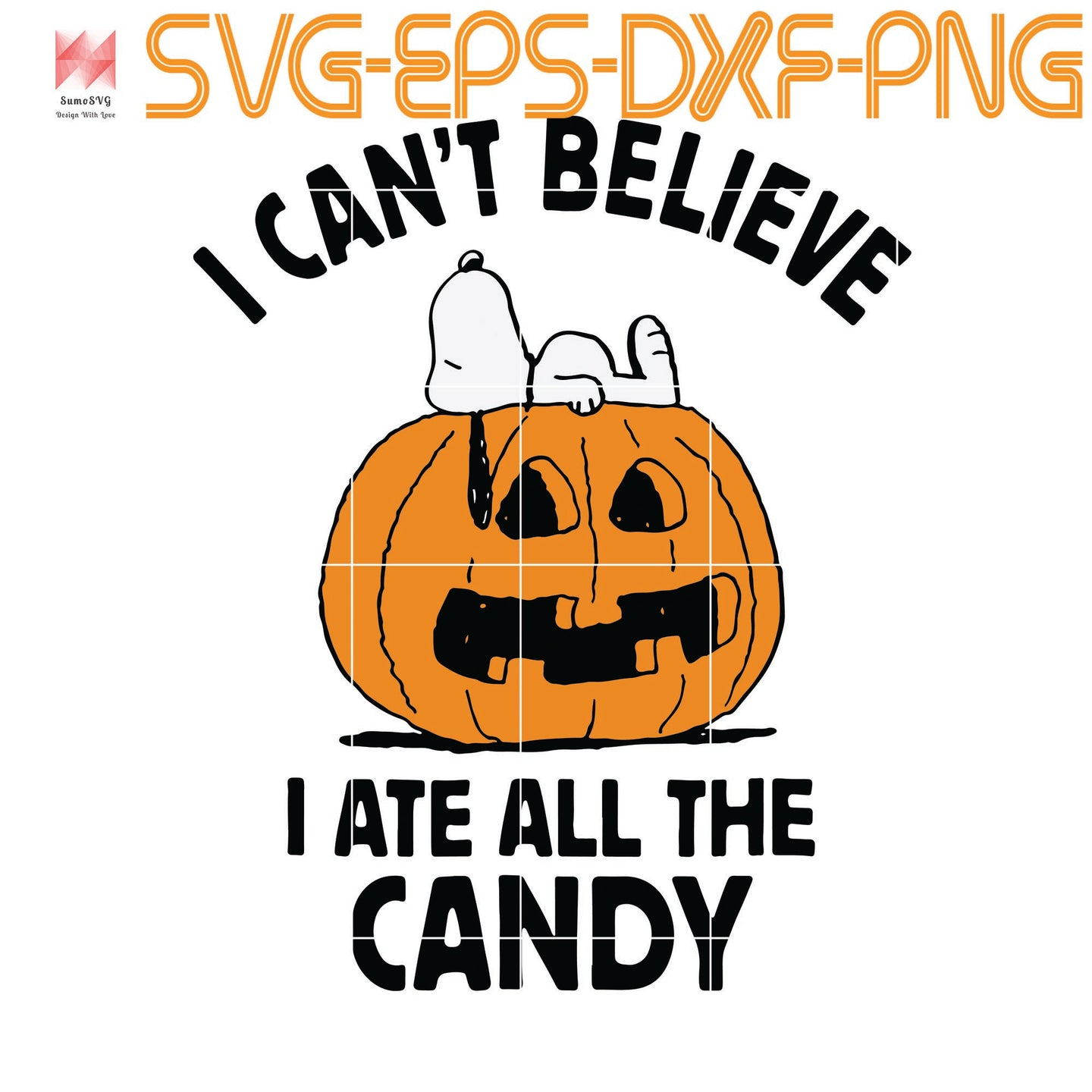 Peanuts Halloween Snoopy All The Candy, quotes, svg file for Cricut, Cameo, svg, png, eps, dxf, digital download