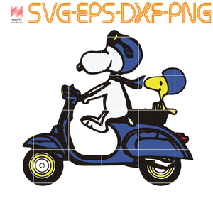 Snoopy Driving Motobike, Funny Snoopy, svg file for Cricut, Cameo, quotes, svg, png, eps, dxf, digital download