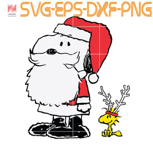 Peanuts Snoopy Woodstock Antlers Santa Shop, quotes,svg file for Cricut, Cameo,  svg, png, eps, dxf, digital download