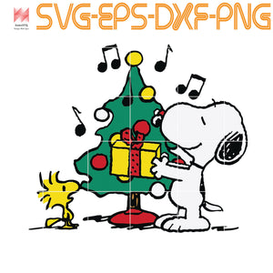 Peanuts Snoopy and Woodstock Holiday Christmas Tree, quotes,svg file for Cricut, Cameo,  svg, png, eps, dxf, digital download